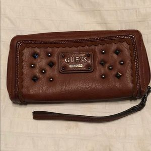 Guess Brown Leather Wallet